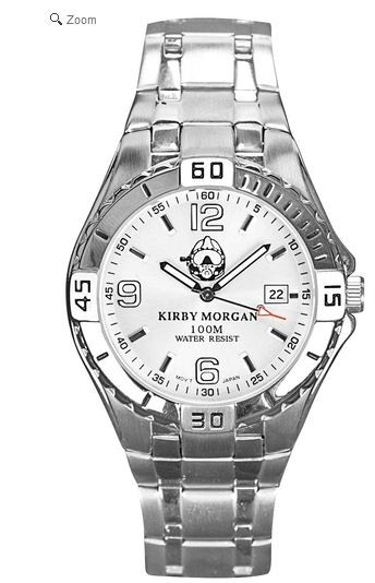 Kirby Morgan Stainless Steel Mens Watch