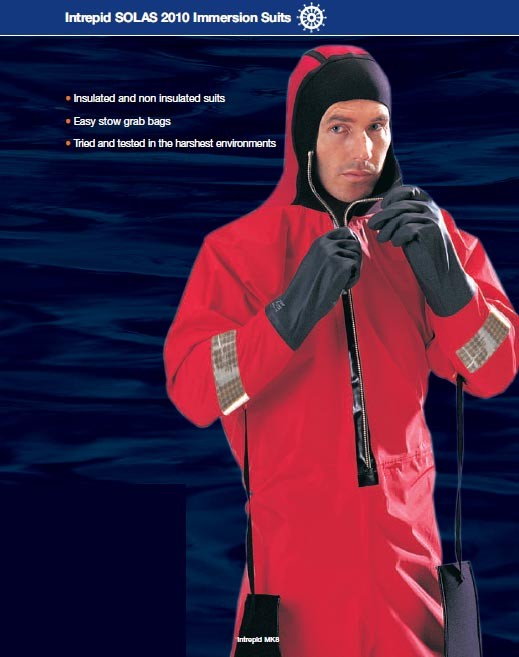 Intrepid SOLAS 2010 Immersion Suits