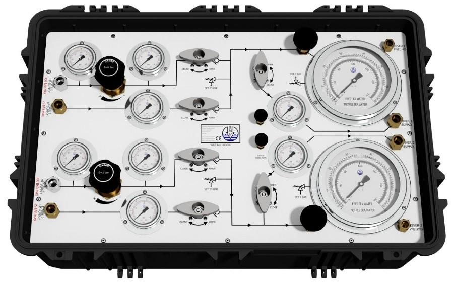 2 Diver Offshore HP/LP Panel In Pelicase
