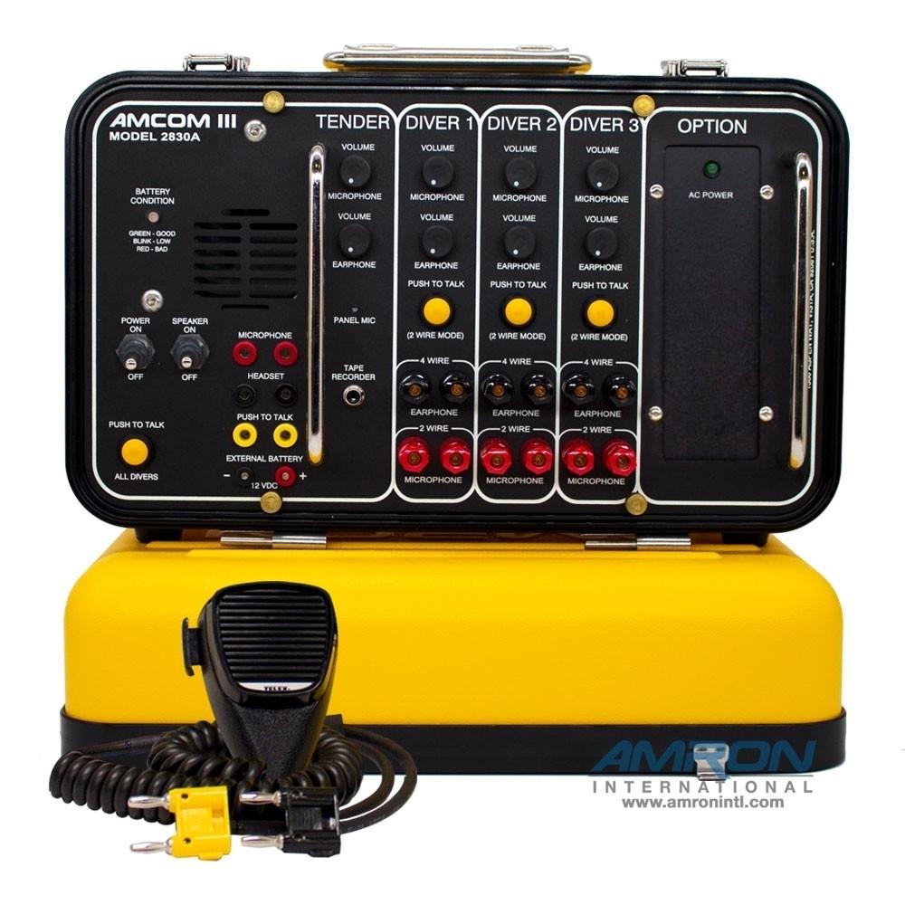 Amron Amcom III 3-Diver Portable Rechargeable Communicator