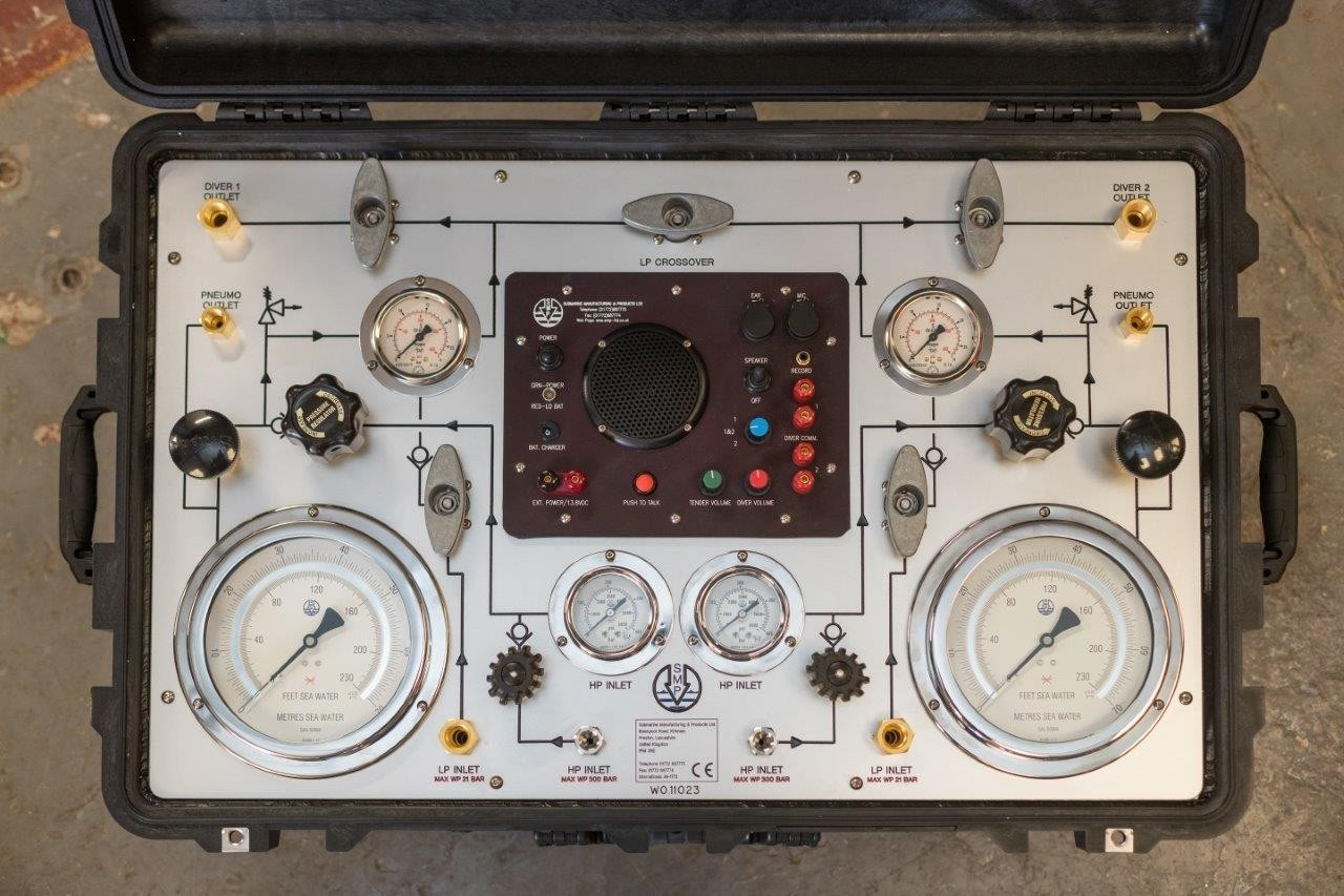 2 Diver HP/LP Control Panel in a Pelicase Including 2 Diver Radio