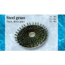 Steel Grass Hull Cleaning Brush Head for Removing Thick Dense Grass