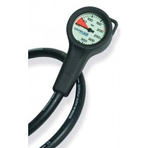 HP Contents Gauge and Hose For Bailout 0 to 350 Bar