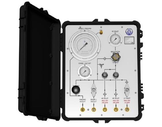 1 Diver HP/LP Panel In Pelicase