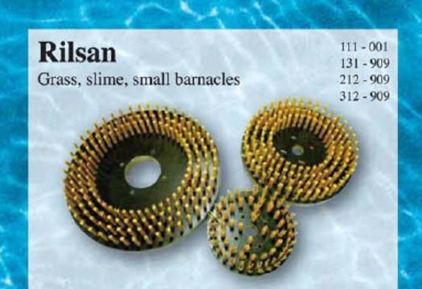 Rilsan brush head for grass slime and small barnacles