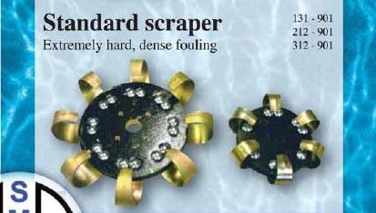 Standard Scraper brush head for extremely hard dense fouling