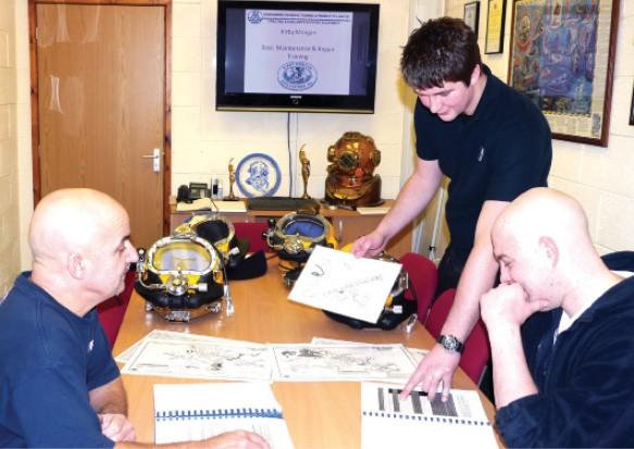 柯比摩根基础潜水头盔保养和维修课程