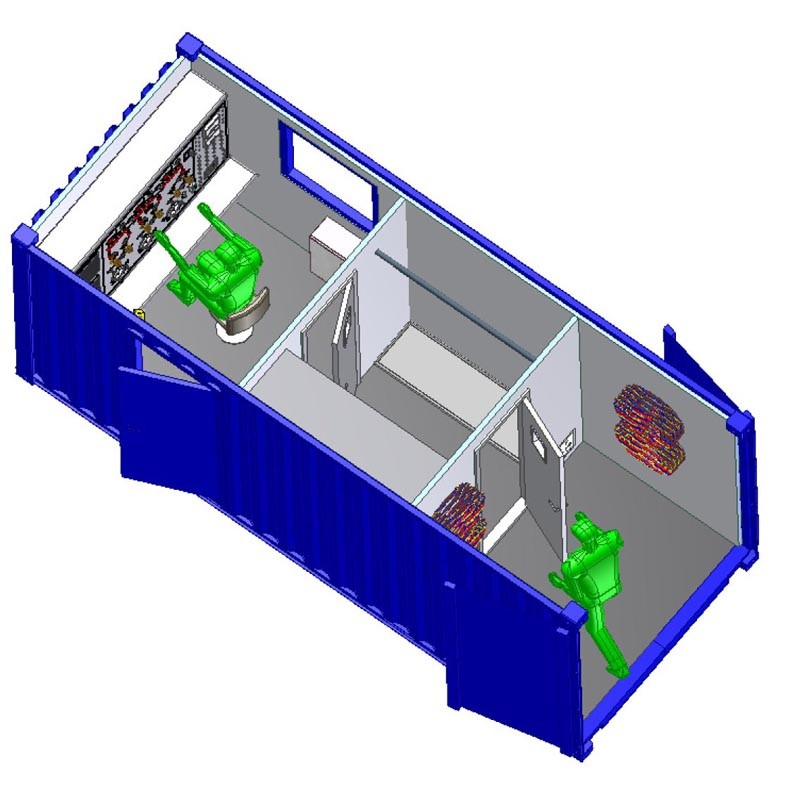 20 ft Dive Control Container with Storage and Wet Area