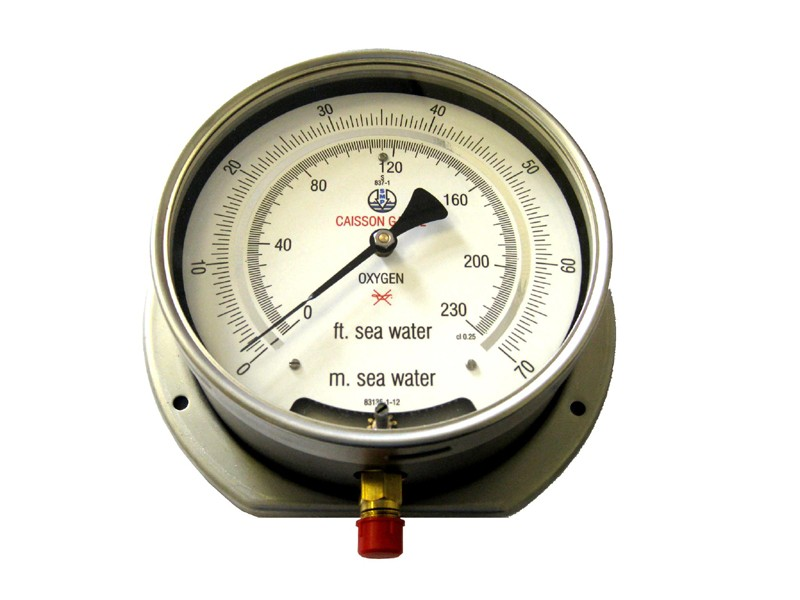Caisson Gauge for Diver Decompression Chamber