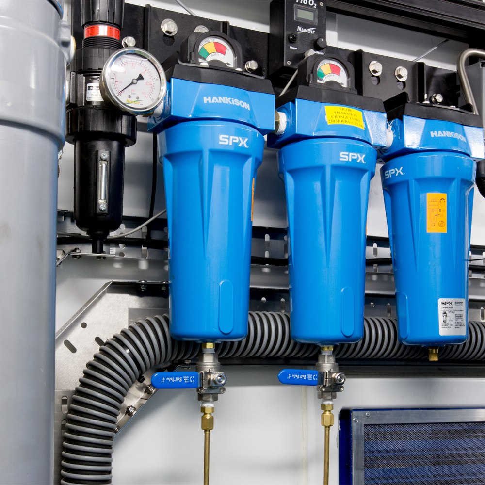 SPX valves and air tank control system