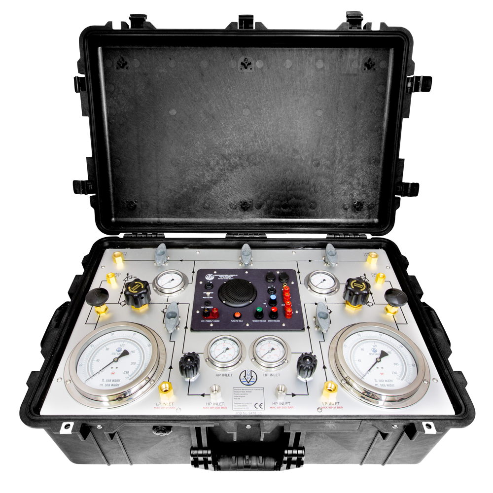 SMP portable diving control panels in flight case