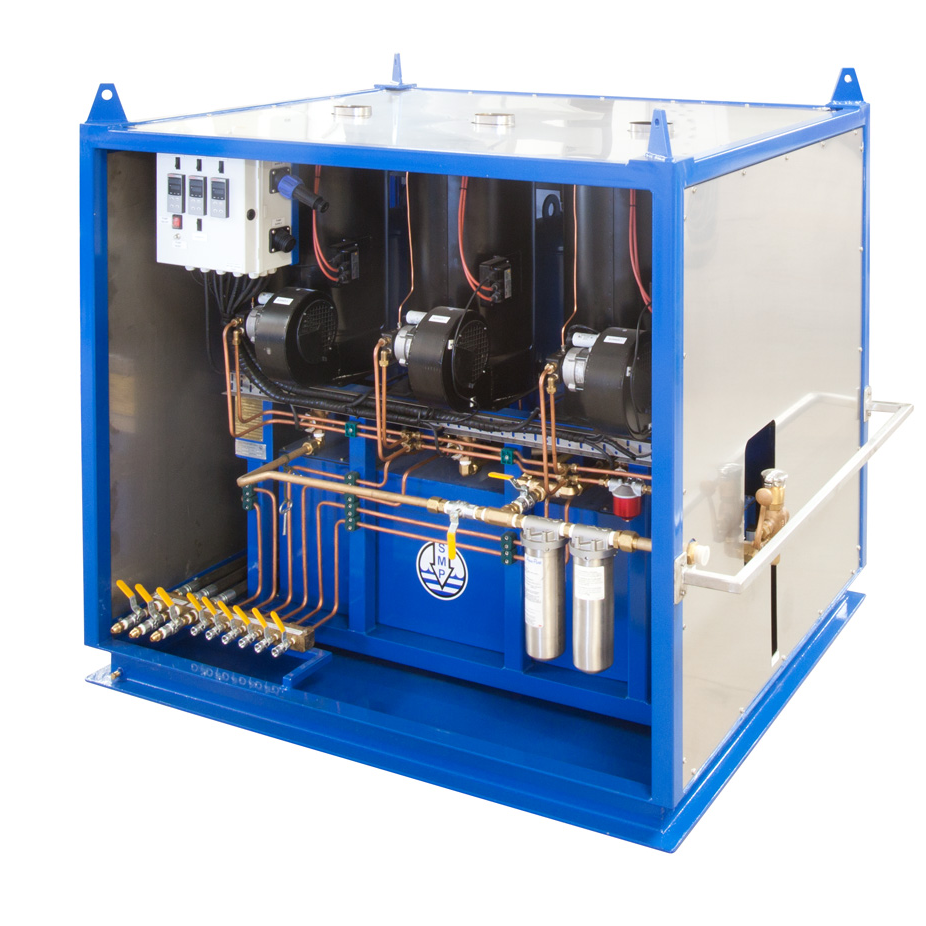 containerised Hot water machine