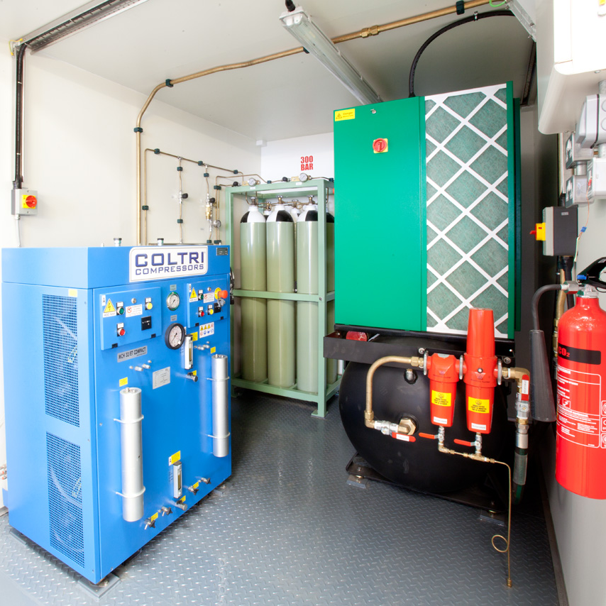 Coltri compressor and gas cylinders