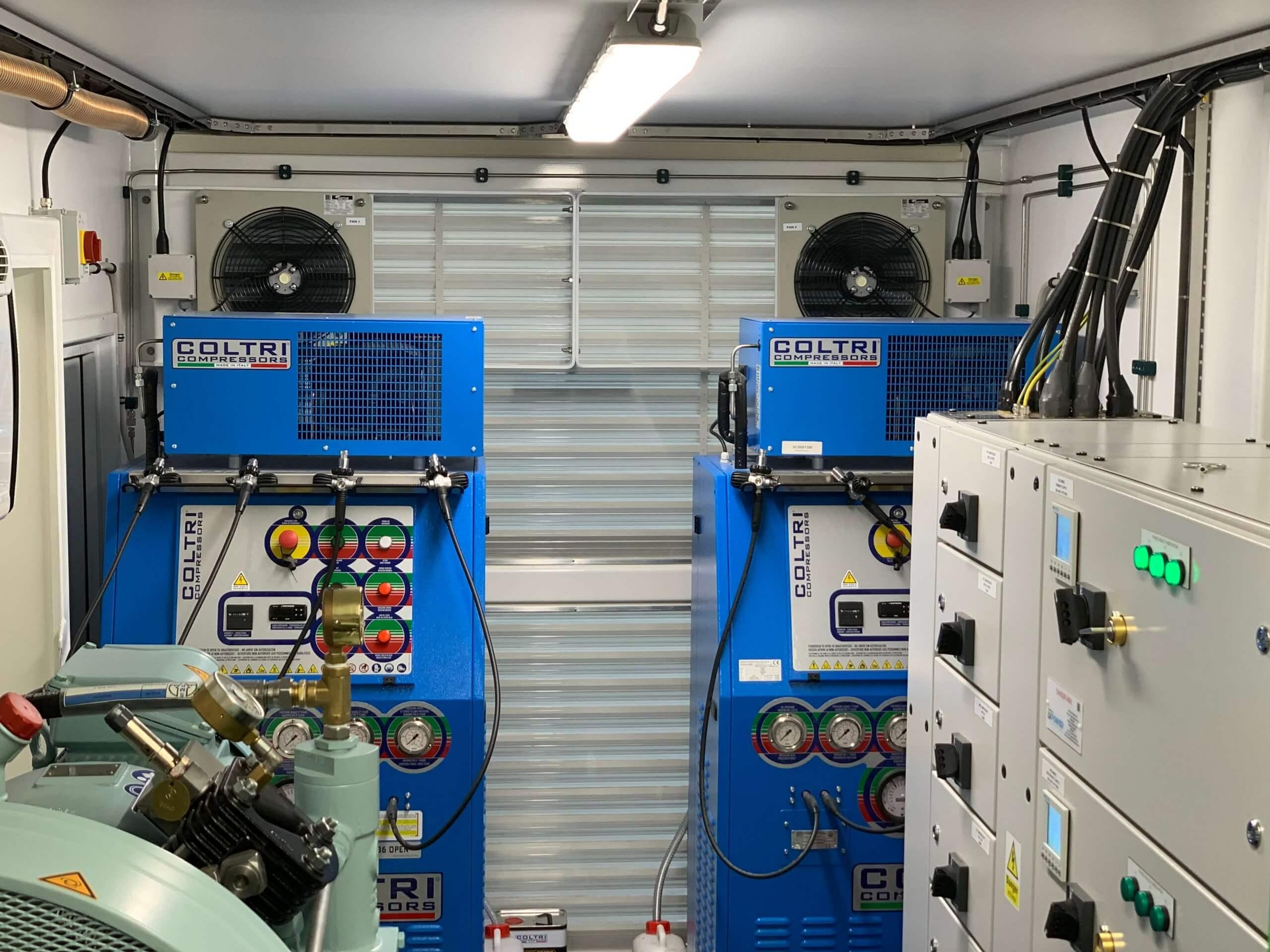 Submarine rescue system - Coltri compressors