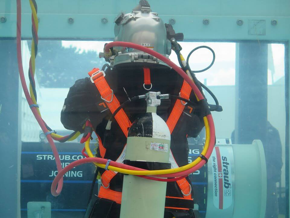 commercial diver at SMP Seaworks Expo 2019