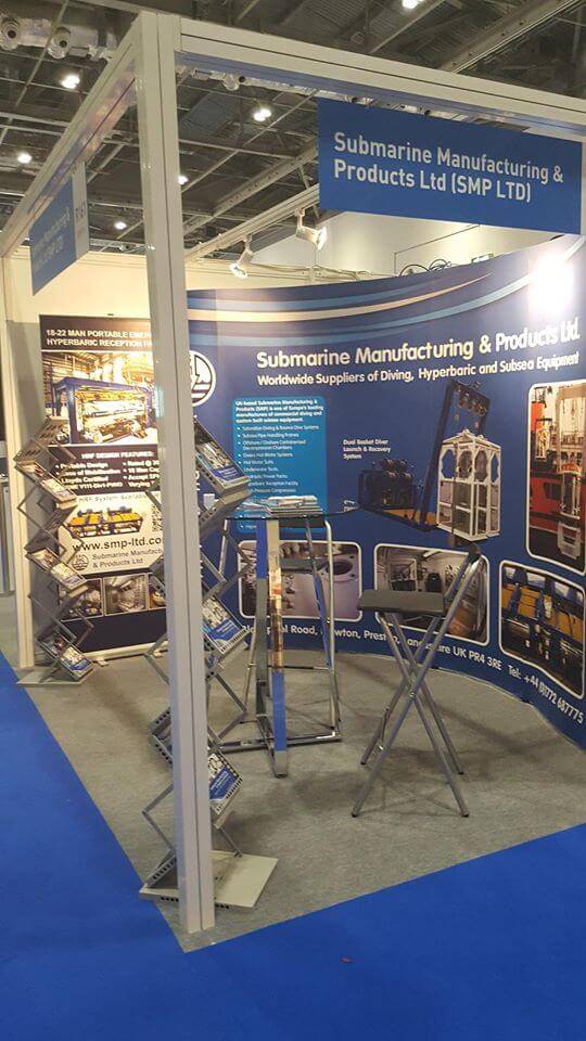 exhibition showing SMP stand