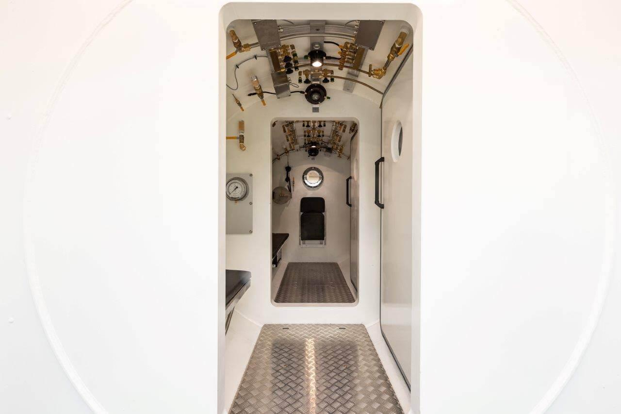 inside large HBOT chamber
