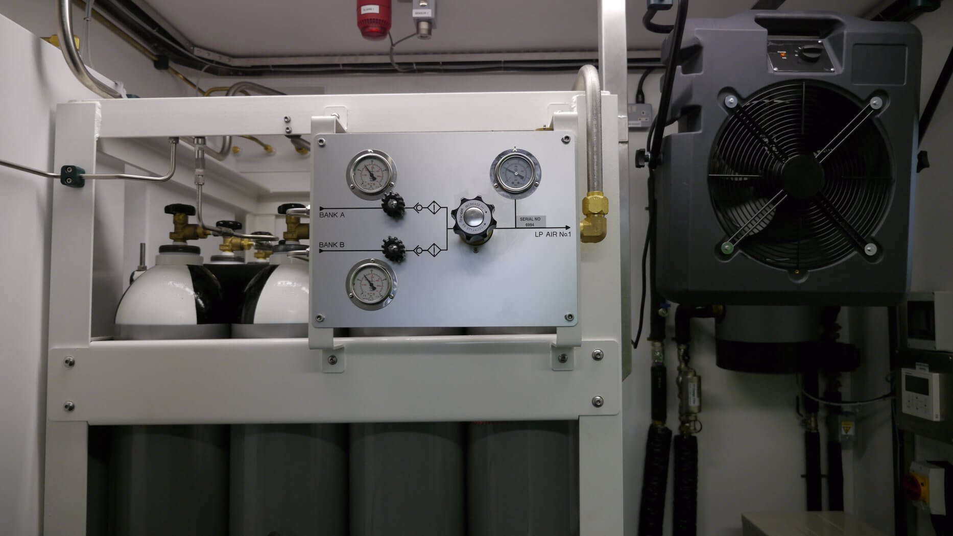 Twin Lock Diving Chamber control panel