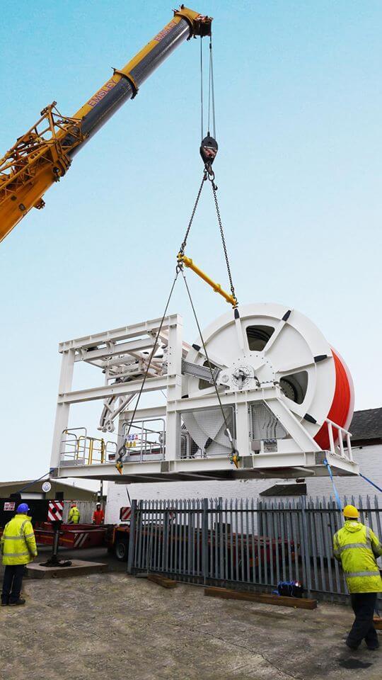 Submarine Ventilation System being craned