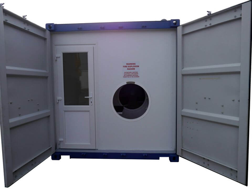 entrance to hyperbaric oxygen chamber