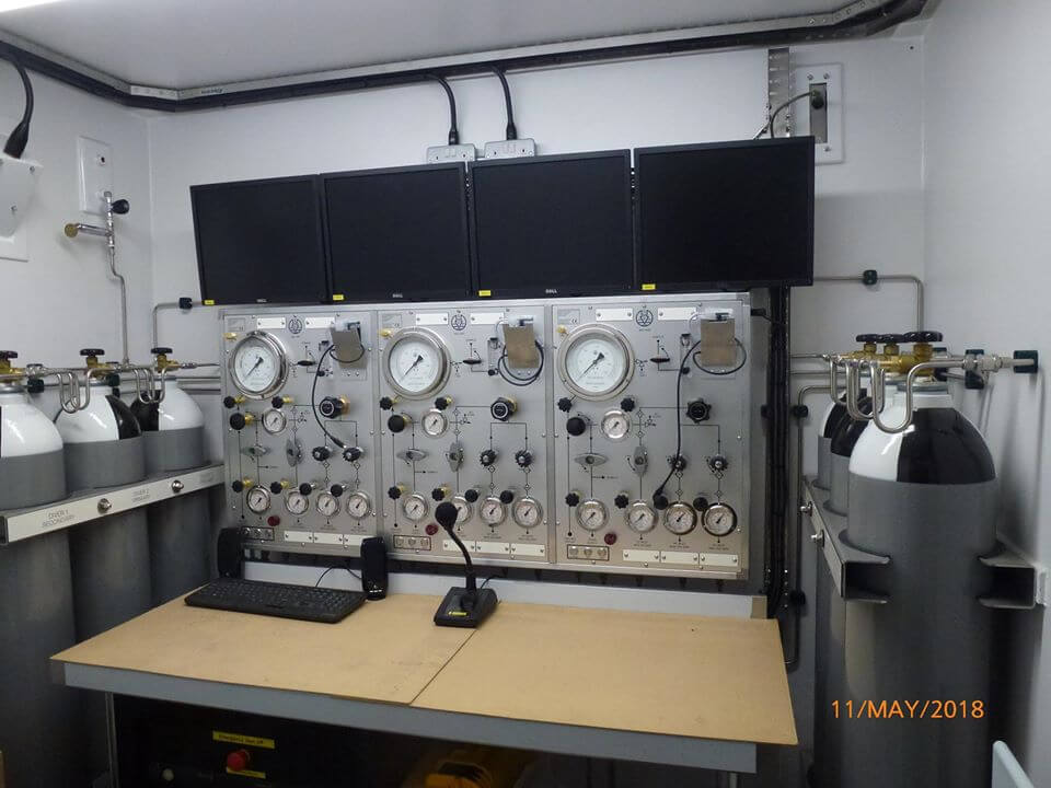control panel for decompression chamber