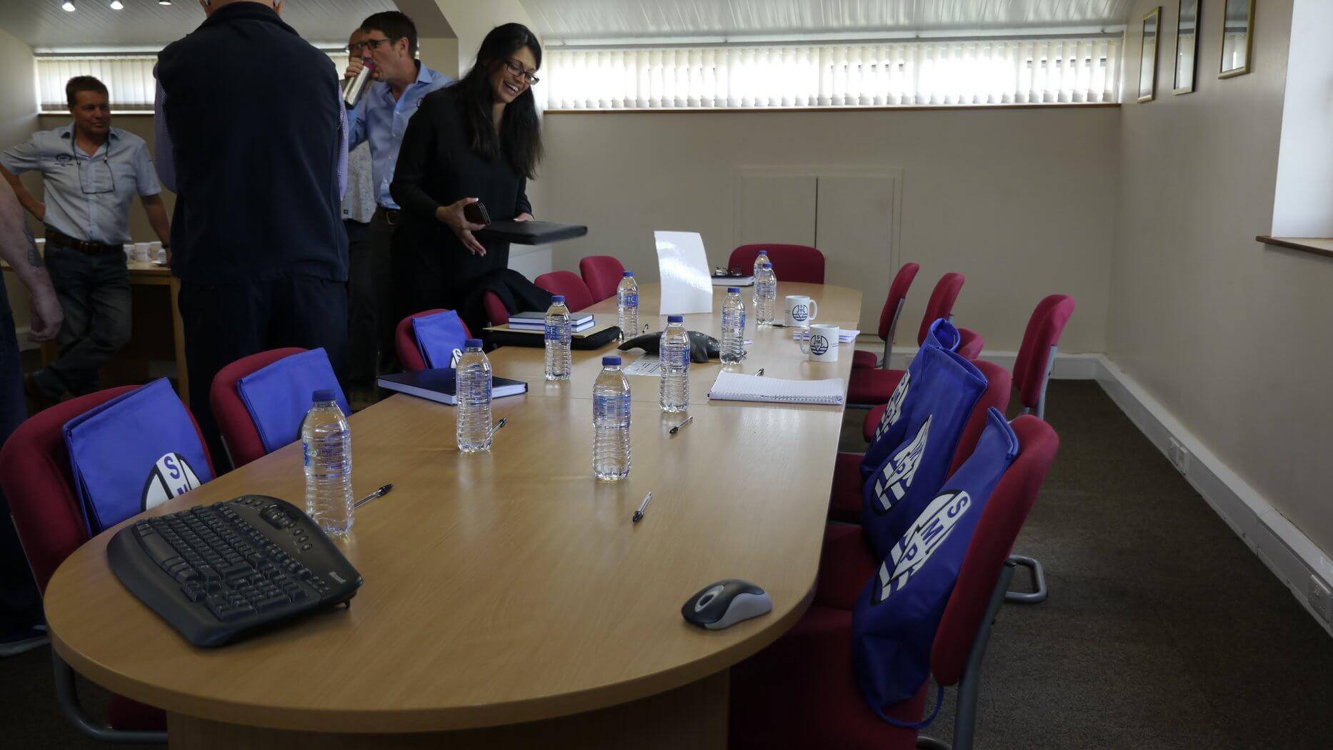 Northern regional meeting boardroom table