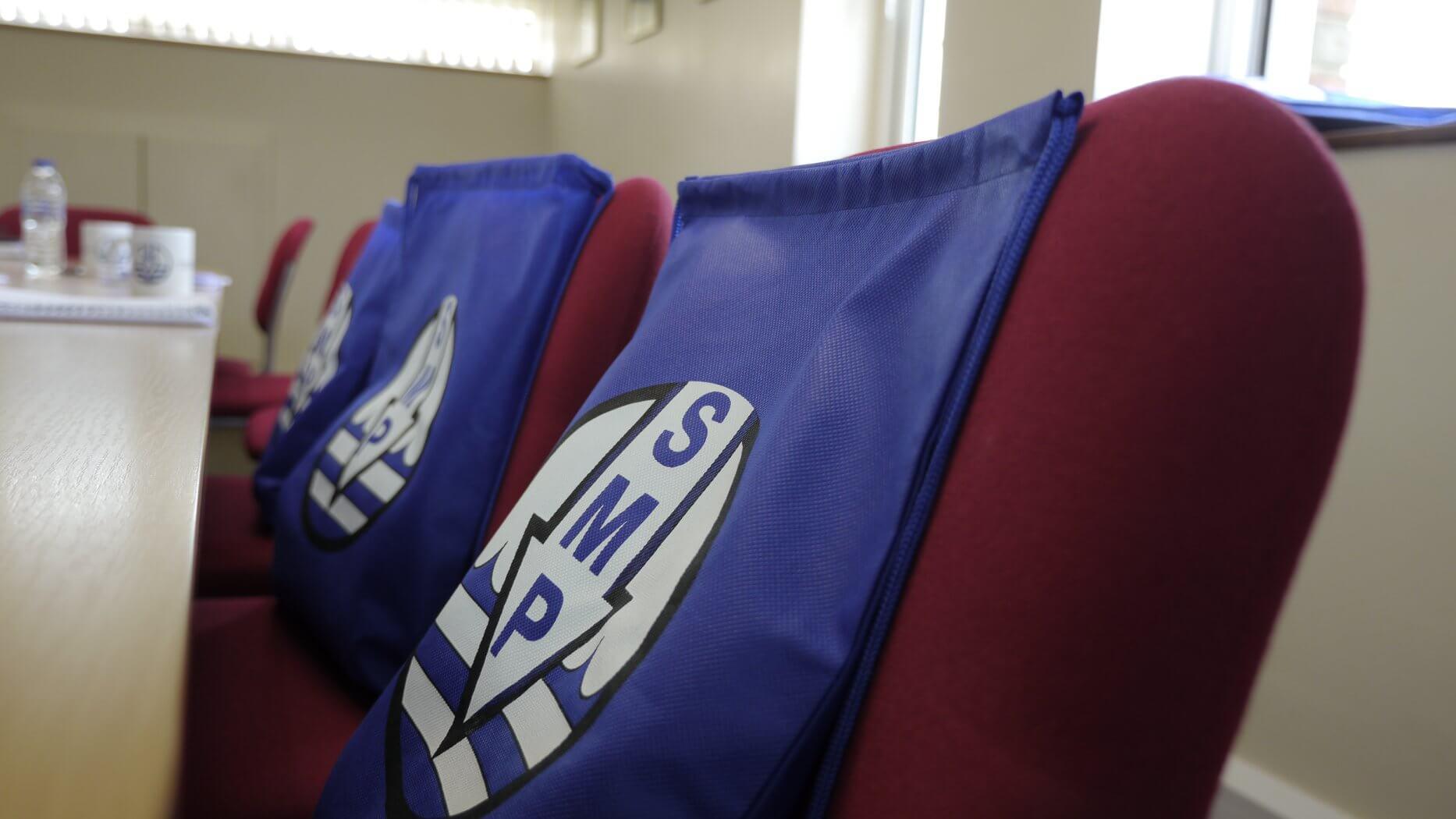close up of SMP bags