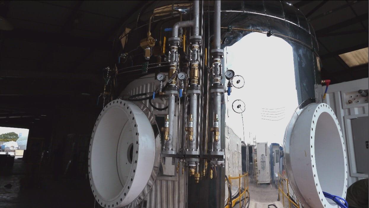 close up of Submarine rescue system