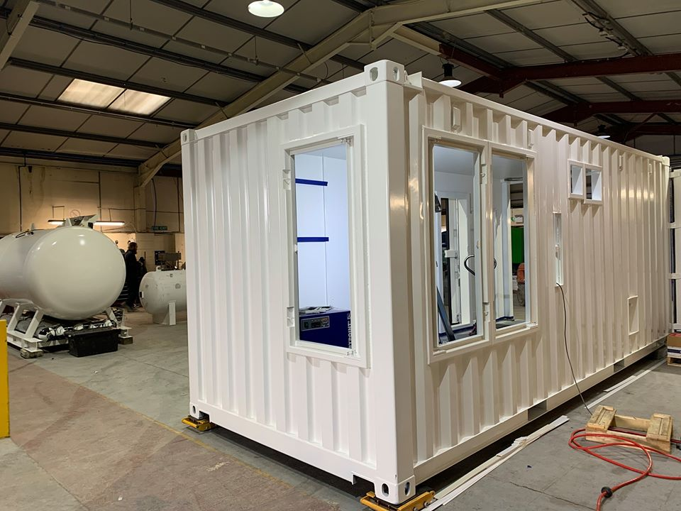 Containerised diving system under construction