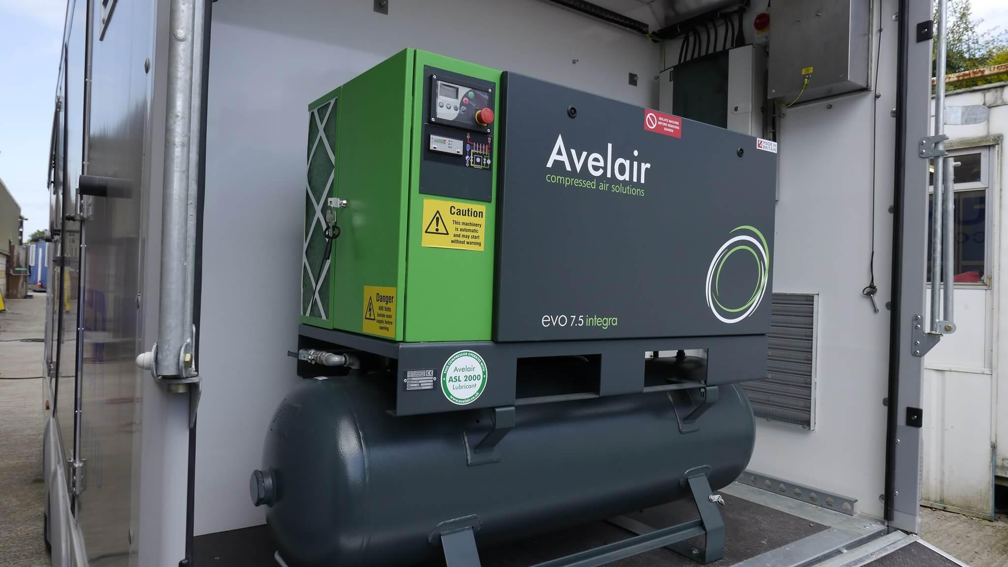 Avelair compressor on dive control trailer