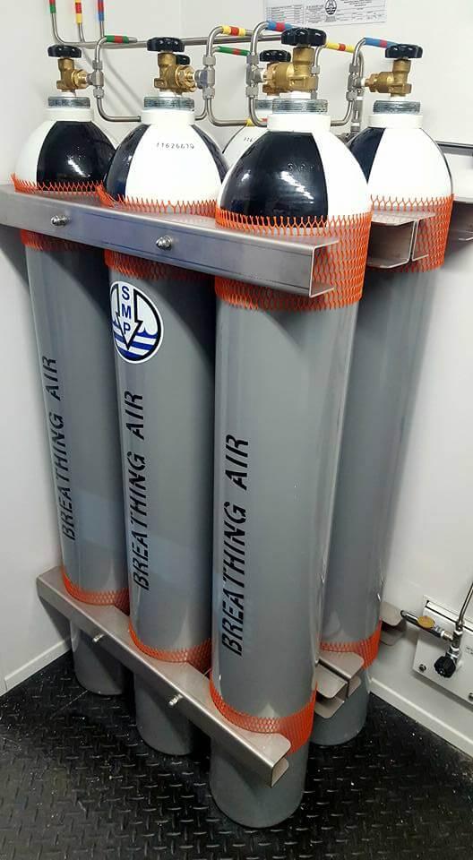 6 cylinder O2 tank system