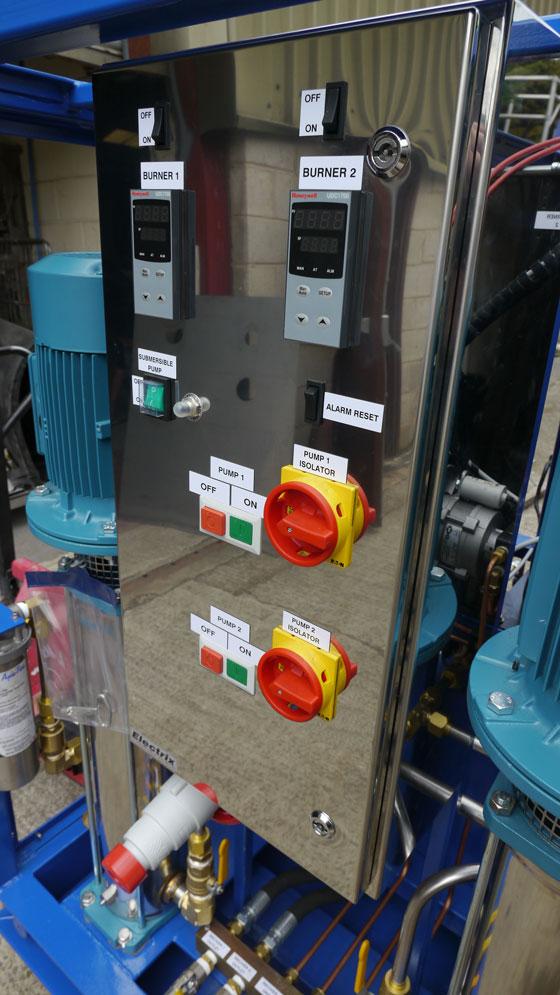 Hot water machine main control panel