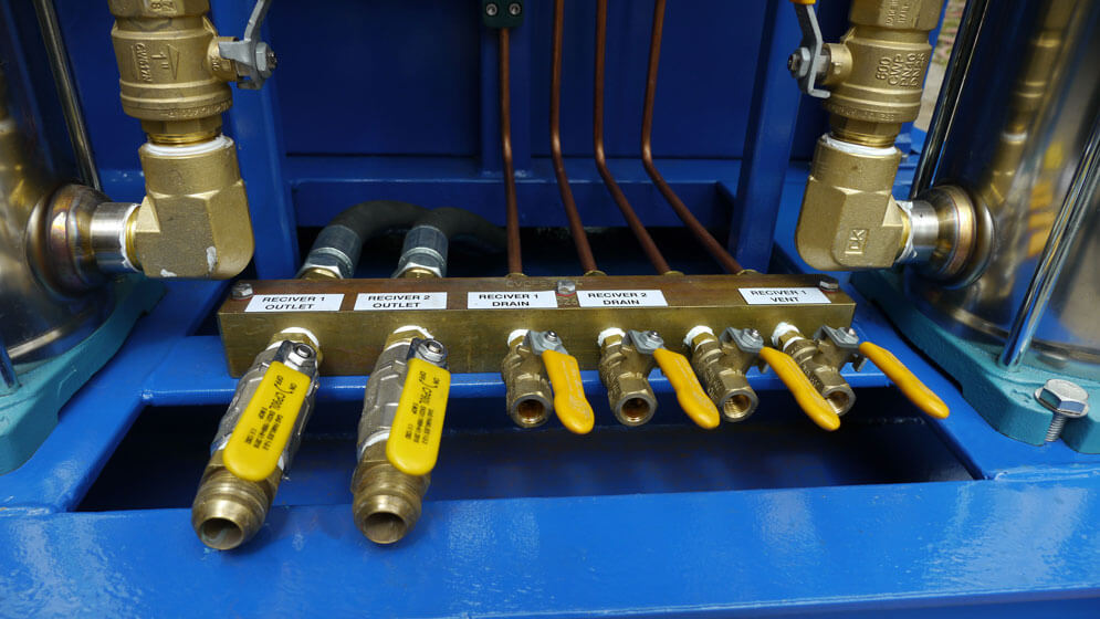 inlet pipes on hot water machine