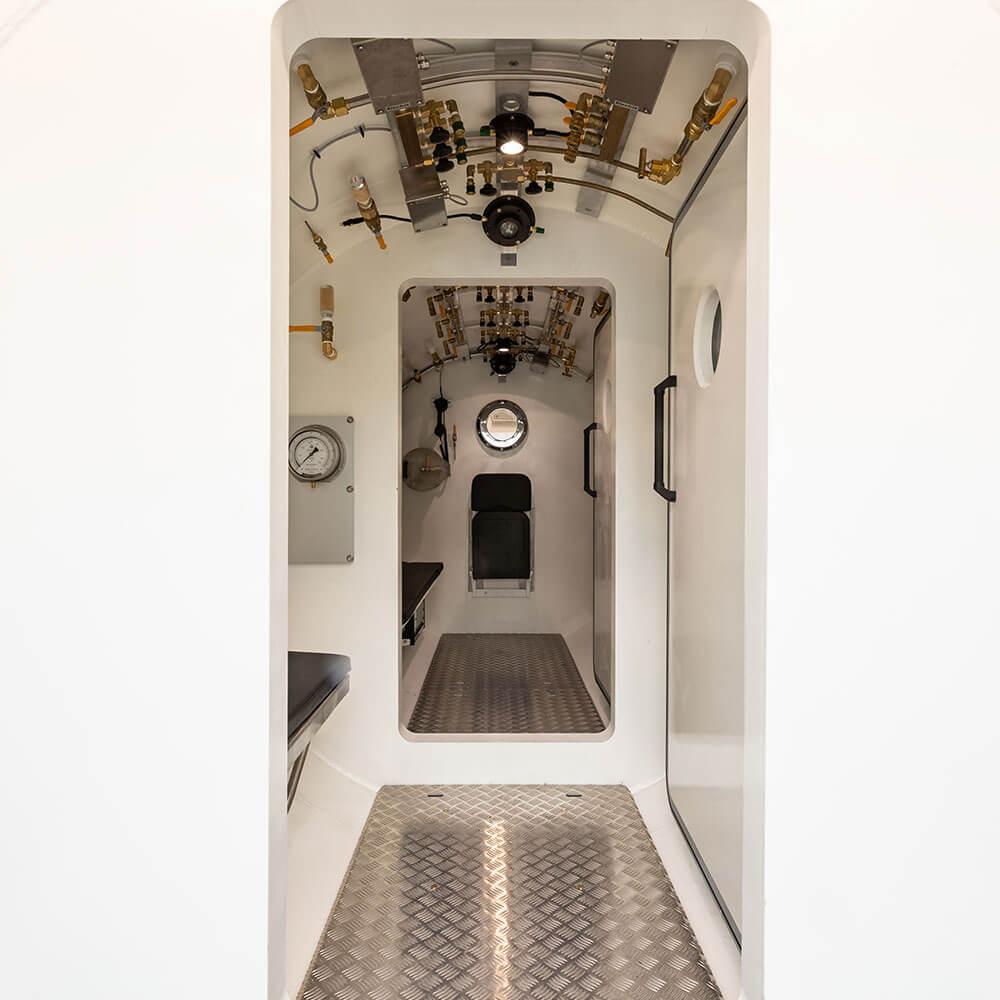 doorways inside hyperbaric chamber