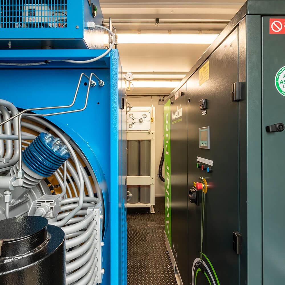 Avelair pure oxygen containment unit