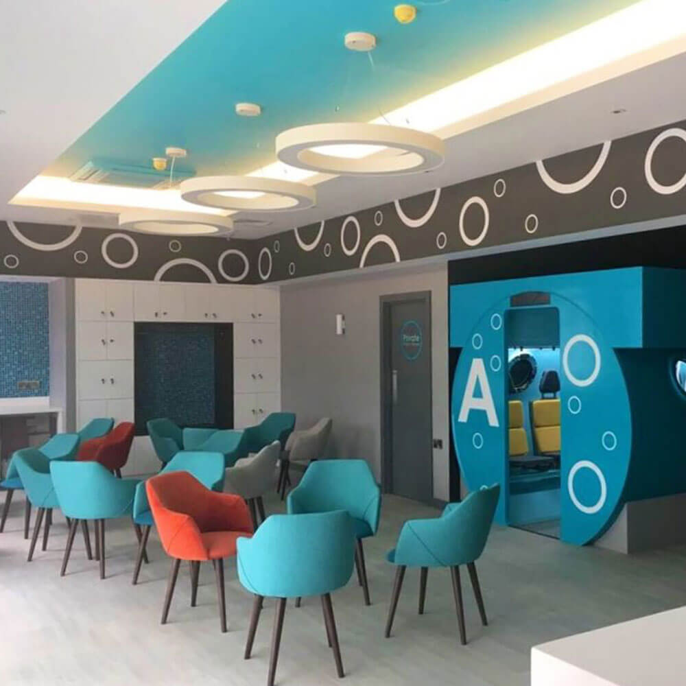 reception seating area of oxygen therapy centre in Galway ireland