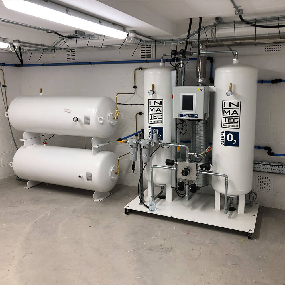 air compression units for hyperbaric chamber