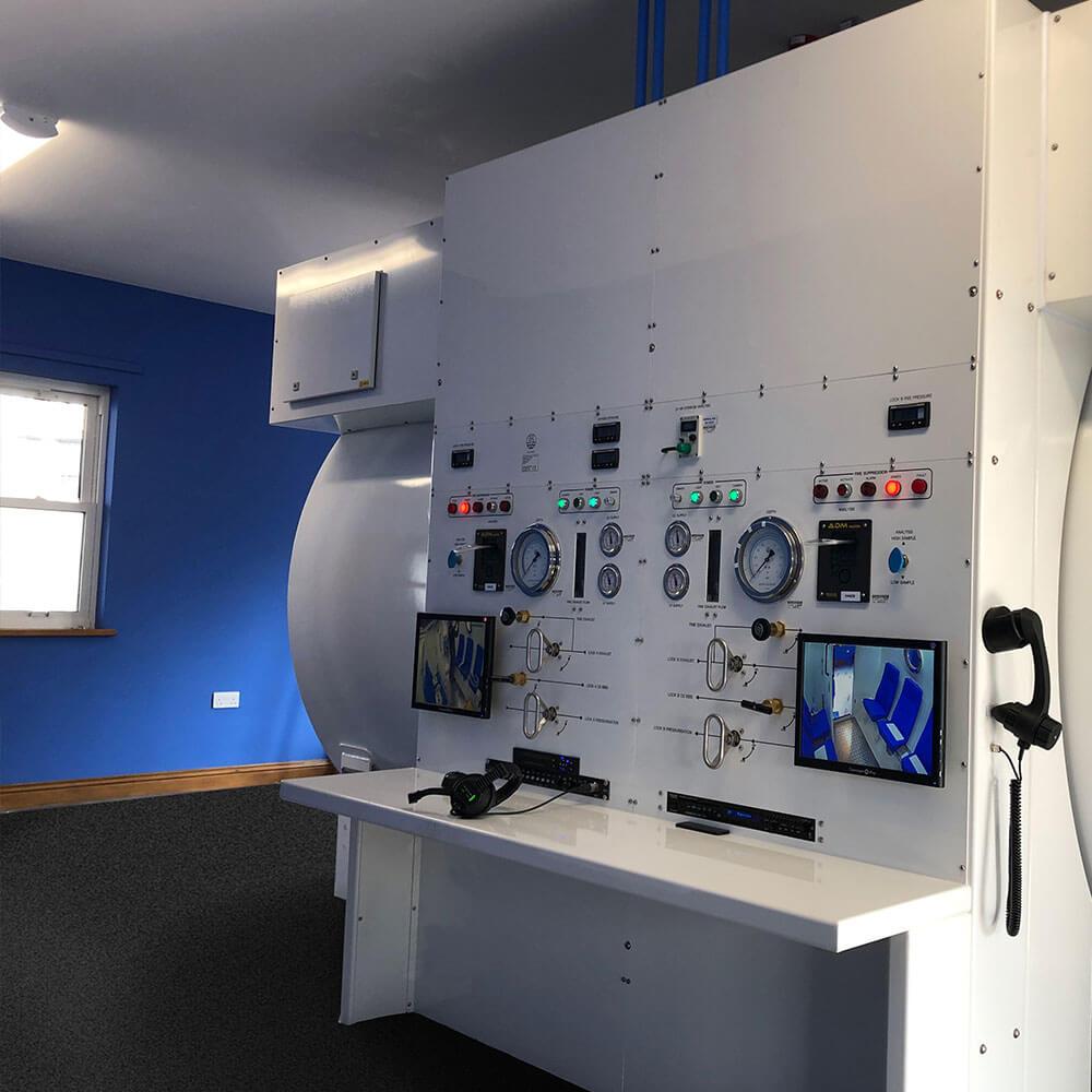 hyperbaric control panel unit