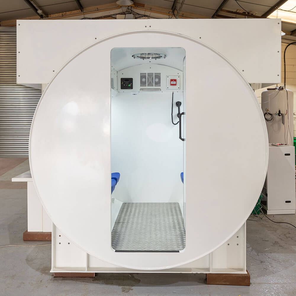 entry point of oxygen therapy chamber