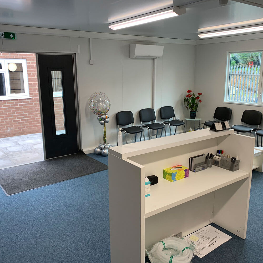 2nd shot of reception in oxygen therapy centre