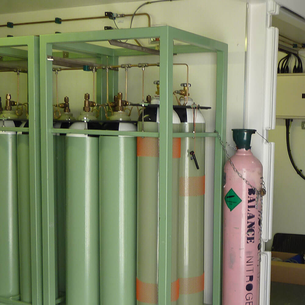 gas container storage area