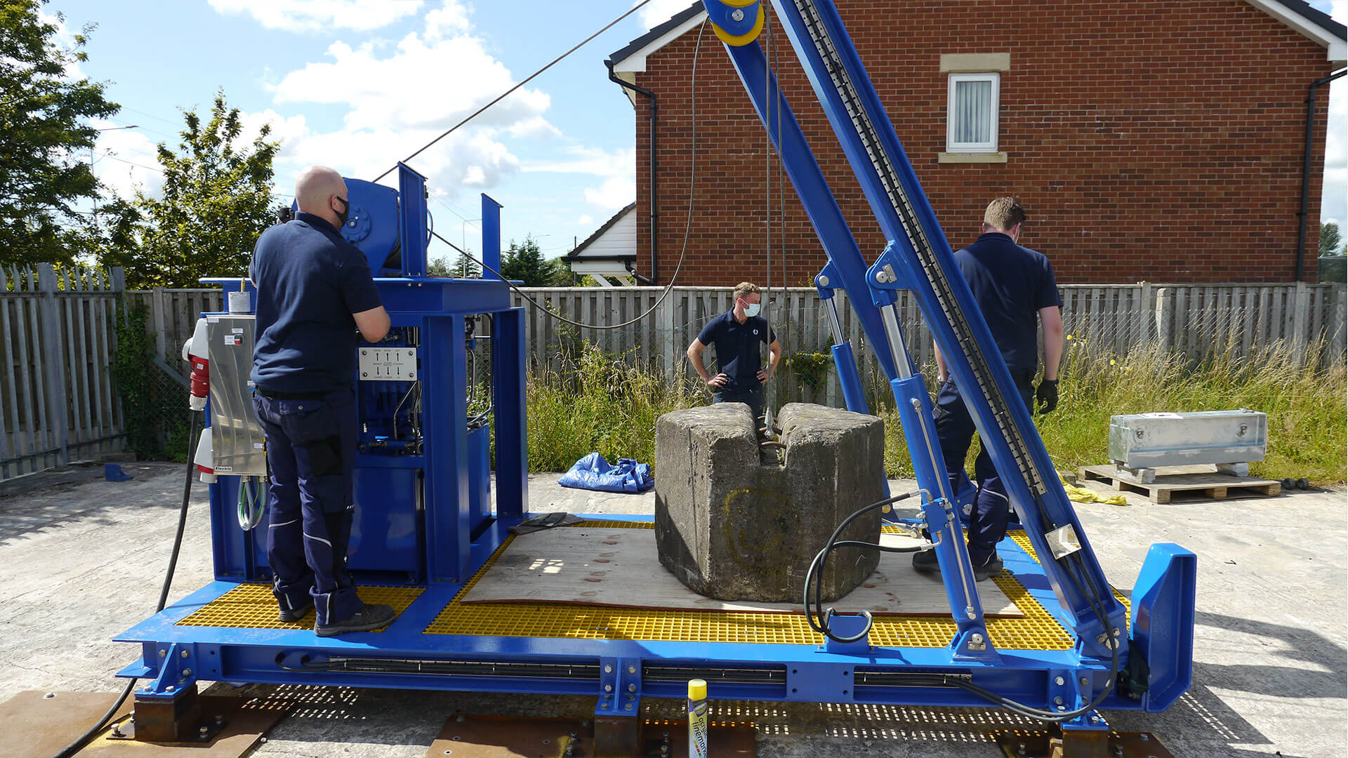launch and rescue system being tested by SMP team