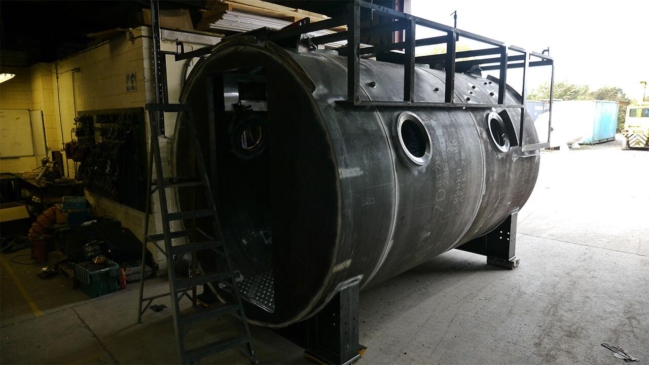 hyperbaric chamber shell