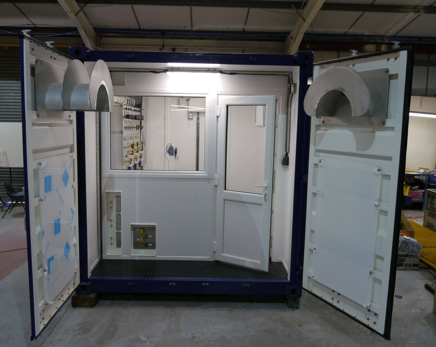 control centre of containerised dive system
