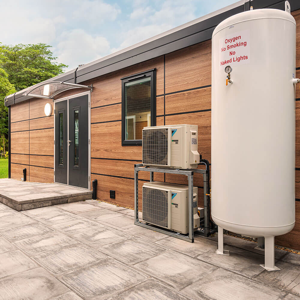 external view of hyperbaric chamber facility at manchester school