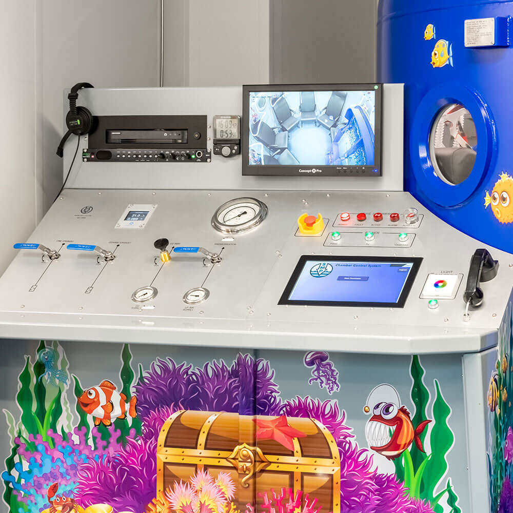 themed control panel unit for Hyperbaric chamber in manchester school