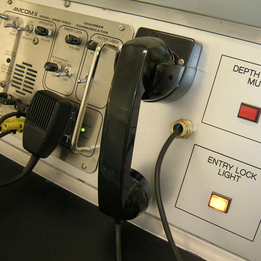 Hyperbaric chamber communication system