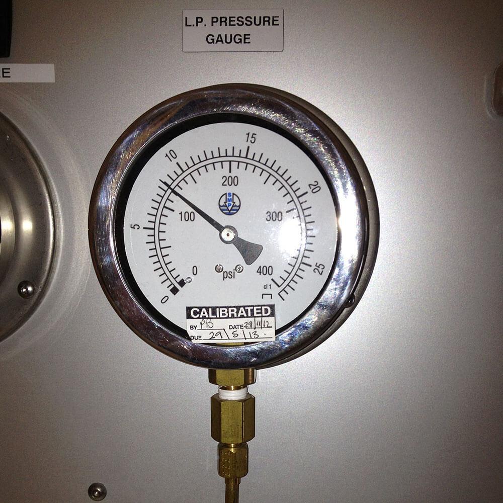 hyperbaric Pressure Gauge Close Up