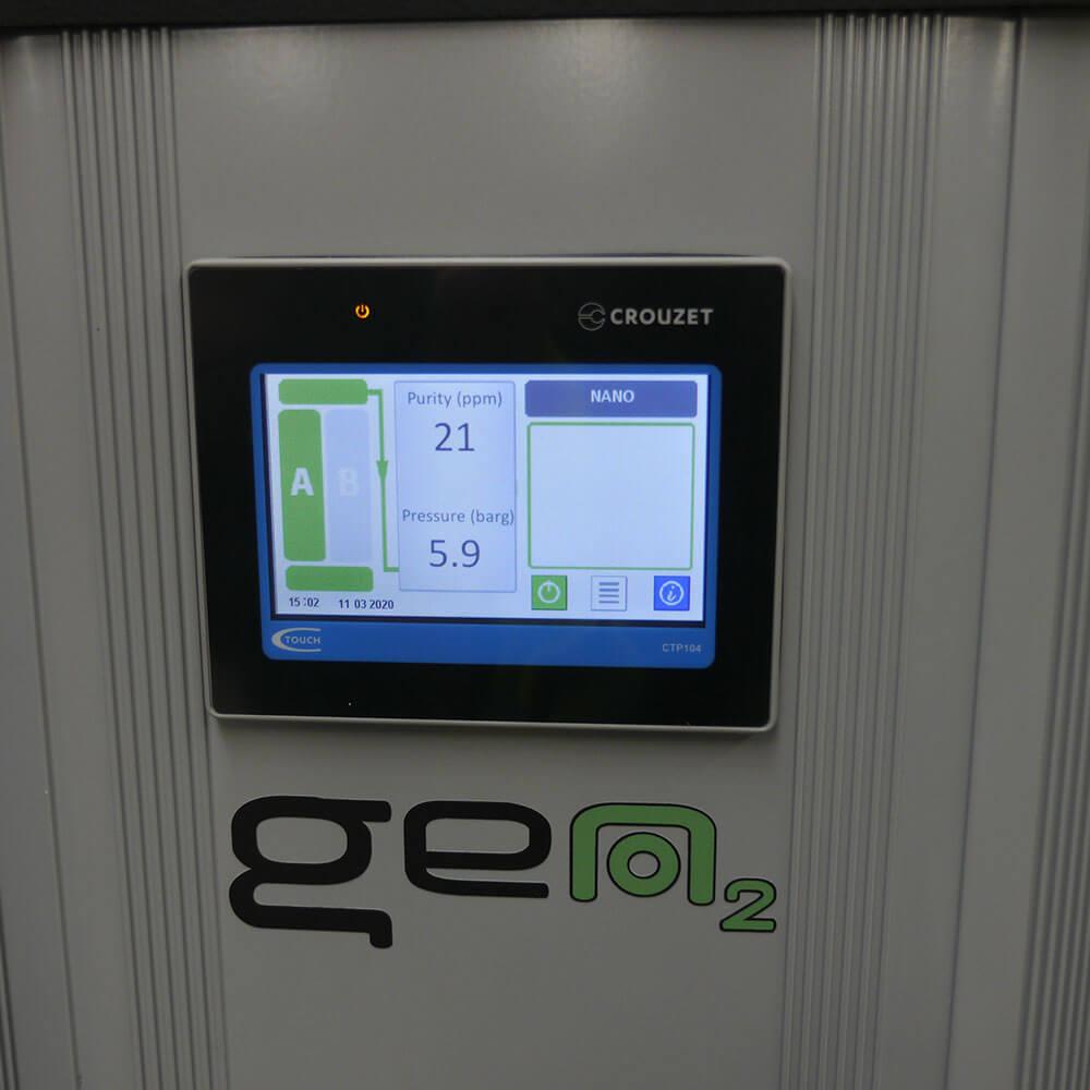 Digital display of Nitrogen Compressed Air system