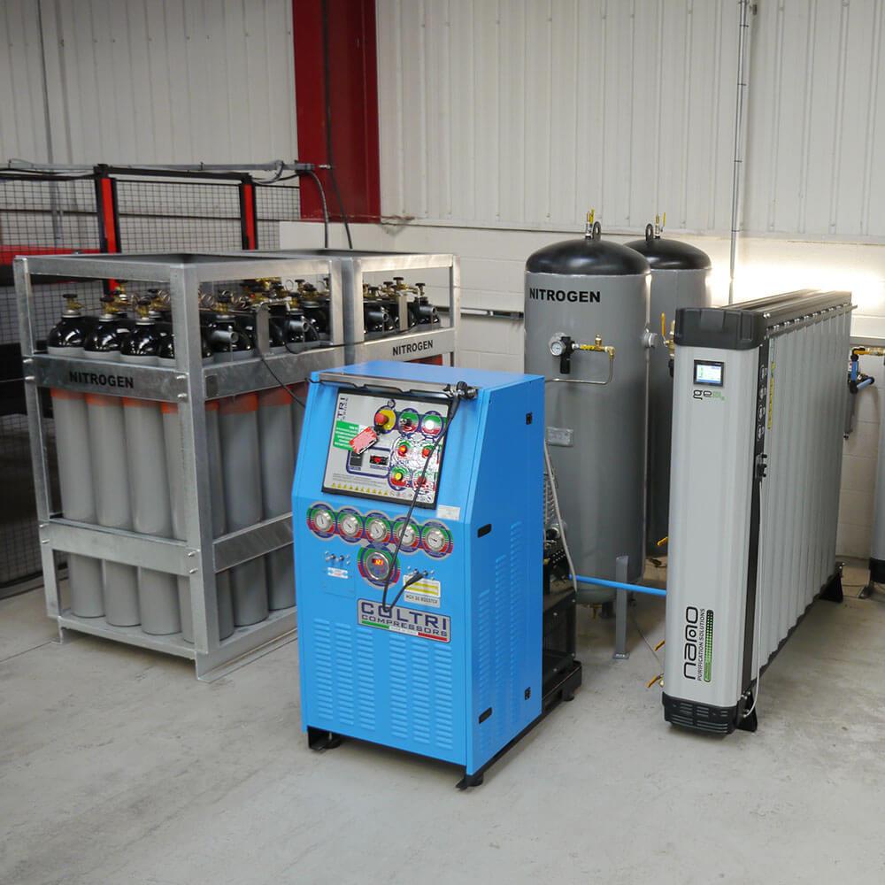 Nitrogen Generation System & Gas Container Storage